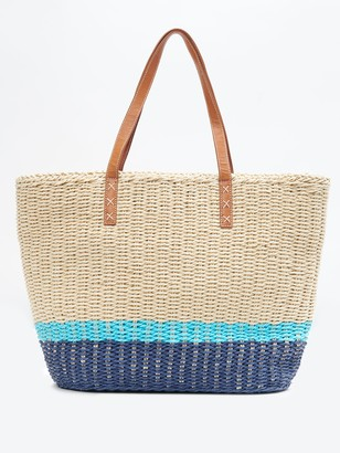 J.Mclaughlin Tofino Straw Beach Tote