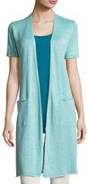 Eileen Fisher Organic Linen Knit Long Cardigan