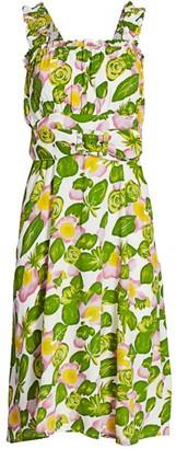 Faithfull The Brand Mae Floral Print Midi Dress