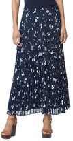 Chaps Pleated Floral Maxi Skirt