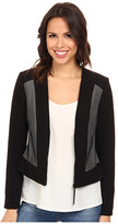Adrianna Papell Bonded Mesh Zip-Front Jacket