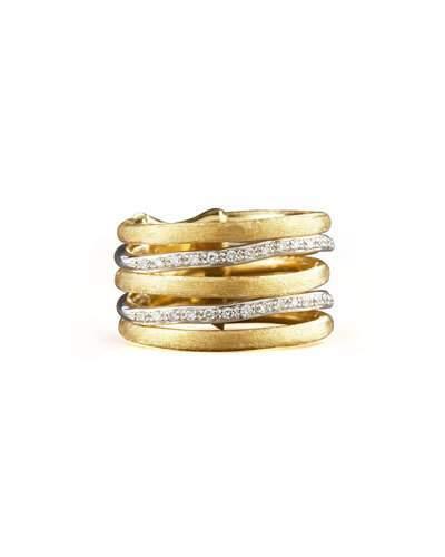 Marco Bicego Jaipur Stacked Diamond Ring