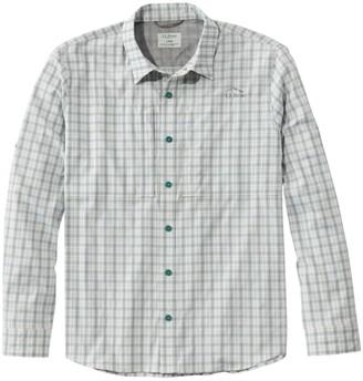 L.L. Bean Men's Tropicwear Pro Stretch Shirt, Long-Sleeve Plaid