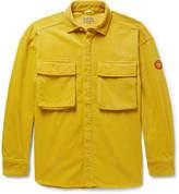 Cav Empt - Oversized Appliquéd Cotton-corduroy Shirt