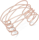 INC International Concepts Rose Gold-Tone Wire Cuff Bracelet, Created for Macy's