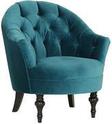 Kim Salmela Elizabeth Accent Chair - Cyan Velvet