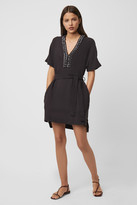 French Connection Karlo Drape Belted Embellished Dress