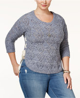 American Rag Trendy Plus Size Pointelle Sweater, Only at Macy's
