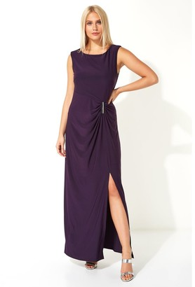 M&Co Roman Originals ruched metal bar trim maxi dress