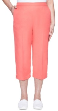 Alfred Dunner Petite Look On The Bright Side Pull-On Capris
