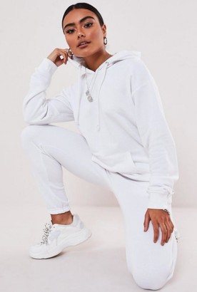 Missguided White Hoodie And Joggers Co Ord Set