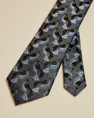 Ted Baker GABRIAL Fish jacquard tie