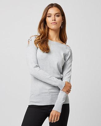 Le Château Viscose Blend Lace-up Sweater