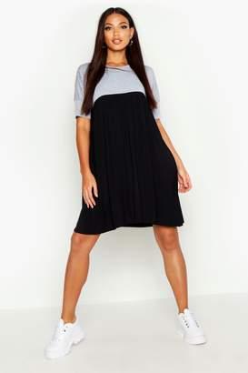 boohoo Colour Block Smock Dress