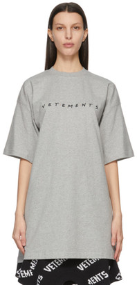 Vetements Grey Friendly Logo T-Shirt