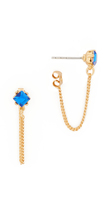 Rebecca Minkoff Stone Chain Loop Stud Earrings