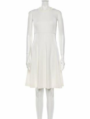 Lela Rose Crew Neck Knee-Length Dress Rose