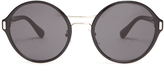 Prada Round-frame acetate and metal sunglasses