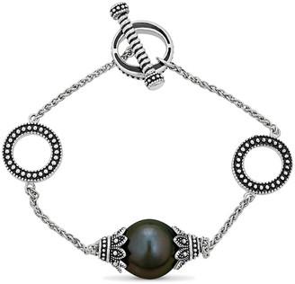 BELPEARL Silver 12Mm Tahitian Bracelet