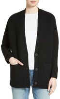 Vince Wool & Cashmere Long V-Neck Cardigan