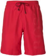 HUGO BOSS logo embossed swimming trunks