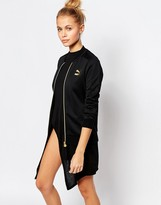 Puma Gold Collection Zip Front Bomber Jacket With Small Metallic Logo