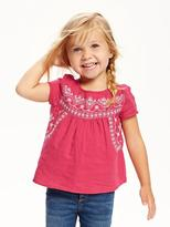 Old Navy Embroidered Gauze Top for Toddler