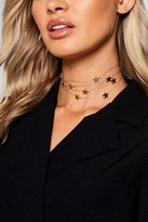 Boohoo Georgia Floating Stars Choker