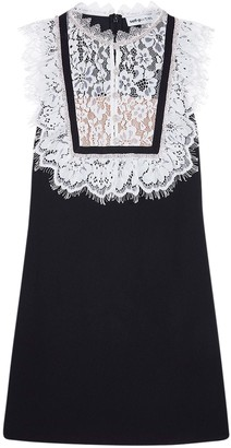 Self-Portrait Lace Crepe Mini Dress