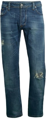 Diesel Larkee Distressed Straight Jeans