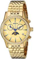 Invicta Women's 'Angel' Quartz and Stainless Steel Casual Watch, Color:Gold-Toned (Model: 22505)