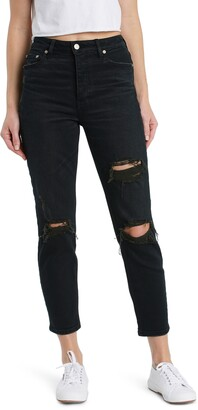 DAZE The Original Ripped High Waist Ankle Skinny Jeans