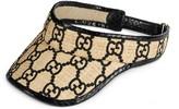 Gucci GG visor with snakeskin
