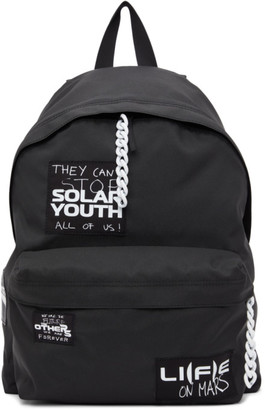 Raf Simons Black Eastpak Edition Patches Backpack