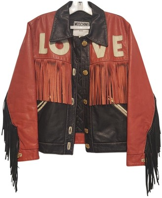 Moschino Cheap & Chic Moschino Cheap And Chic Red Leather Jacket for Women Vintage
