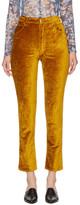 Eckhaus Latta Gold Velvet Trousers