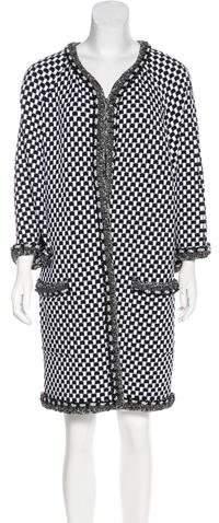 Chanel Embellished Knit Coat