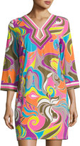 Trina Turk Kaylan Swirl-Print Dress, Multi Pattern