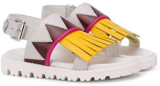 Marni fringe design sandals