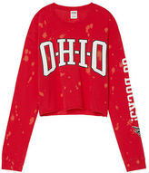 PINK The Ohio State University Cropped Long Sleeve Campus Tee