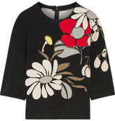 Marni Appliquéd Ponte Top - Black