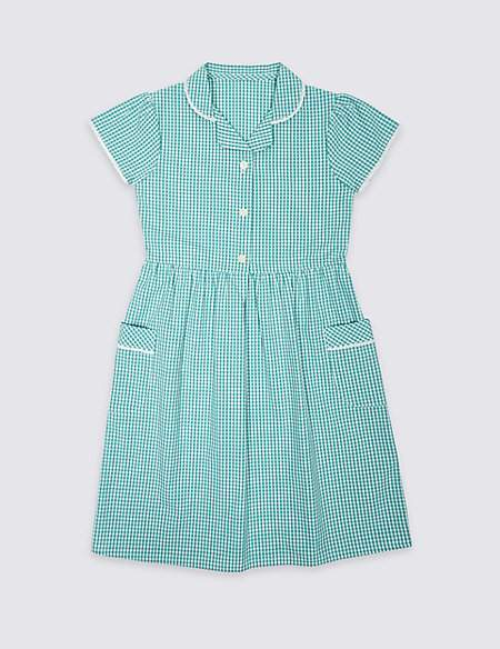 Marks and Spencer Girls' Skin KindTM Gingham Dress