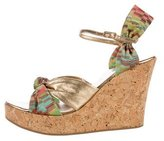 Missoni Metallic Wedge Sandals
