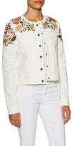 BCBGMAXAZRIA Kristopher Cotton Embroidered Jacket