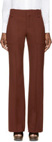 Chloé Maroon Wool Trousers