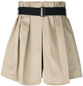 Rag & Bone belted flared shorts - women - Cotton/Polyamide/Polyurethane - 0