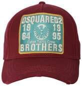 DSQUARED2 Brothers Patch Canvas Baseball Cap
