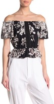 Angie Floral Off the Shoulder Peplum Top