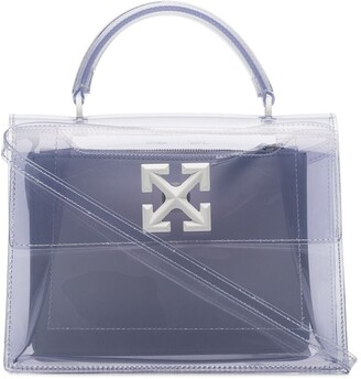 Off-White Transparent Jitney 2.8 tote bag