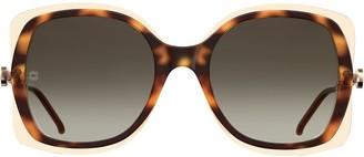 Elie Saab Square Tinted Sunglasses